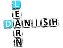 3D Learn Danish Crossword. On white background Stock Images
