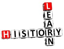 3D Learn History Crossword. On white background Royalty Free Stock Photography