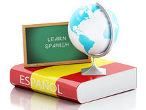 3d Learn spanish. Education concept. Stock Images