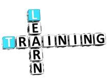 3D Learn Training Crossword. On white background Stock Photo