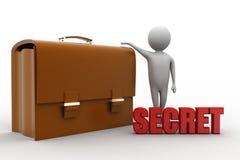 3d leather bag Secret illustration Royalty Free Stock Photos