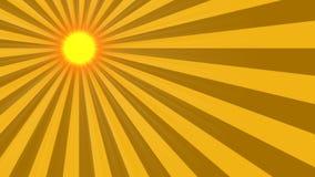 2D lebhafte Sonnenstrahlen stock footage