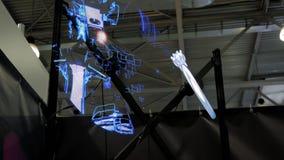 3D led holo fan advertising projector