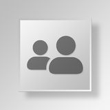 3D ledare Button Icon Concept Royaltyfri Fotografi