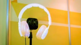 3D ledde holofanen som annonserar projektorn arkivfoto