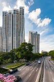 D'Leedonflats in het ontwerp van Singapore door Zaha hadid royalty-vrije stock foto