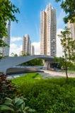 D'Leedonflats in het ontwerp van Singapore door Zaha hadid royalty-vrije stock afbeeldingen