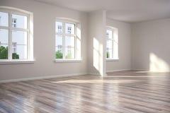 3d - leerer Raum - Wohnung Lizenzfreie Stockfotos