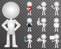 3d lege lege geplaatste pictogrammen van het karakterbeeldverhaal maken ontwerp vectorillustratie Royalty-vrije Stock Afbeelding