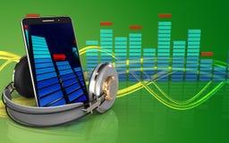 3d lege mobiele telefoon Stock Afbeeldingen