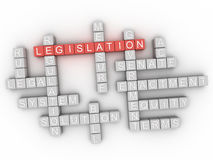 3d Legislation word cloud concept Stock Photos