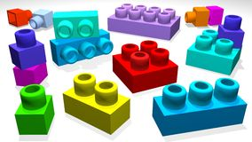 3d lego Stock Photography