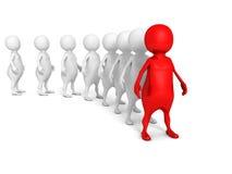 3d leidersmens van teammenigte Verschillende 3d bal Royalty-vrije Stock Afbeelding