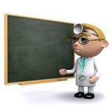 3d lekarka uczy przy chalkboard Ilustracja Wektor