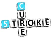 3D lekarstwa uderzenia Crossword Fotografia Stock