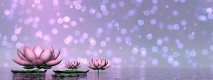 3D leliebloemen - geef terug Stock Foto