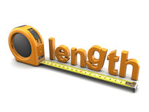 3d length meter Stock Photos