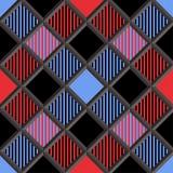 3D lenhador Tartan Seamless Pattern Foto de Stock Royalty Free