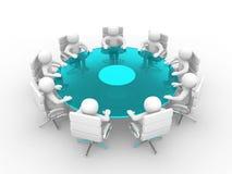 3d les gens - hommes, personne à la table de conférence Images stock