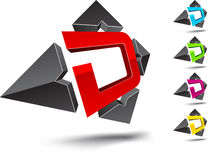 D letter. Stock Photo