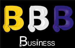 3D letter B Royalty Free Stock Images