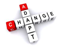 Change and adapt sign Royalty Free Stock Image