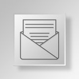 3D Letter Button Icon Concept. 3D Symbol Gray Square Letter Button Icon Concept Royalty Free Stock Photo