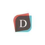 D letter icon retro logo design. Vintage company sign vector des Royalty Free Stock Photos