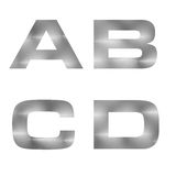 3D letter in silver metal texture background Royalty Free Stock Image