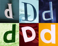 D letter - Urban collection. D letter - the Urban collection royalty free stock photo