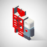 3D Lettering I love robots Royalty Free Stock Photography