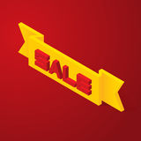 3D Lettering sale Royalty Free Stock Photography