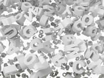 3d letters background Stock Photo