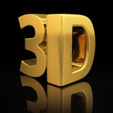 3D letters Stock Images