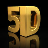 5D letters. On black background with reflection royalty free illustration
