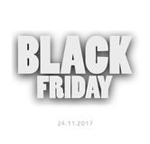 3D Letters Black Friday For Your Design Royalty Free Stock Photography