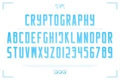 3d letters en de getallen van het stijlalfabet vector, geaccentueerd doopvonttype Vector Illustratie