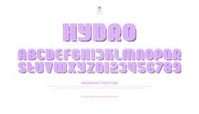3d letters en de getallen van het stijlalfabet vectordoopvonttype ontwerp Vector Illustratie