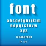 3d letters en getallen Vector Illustratie