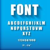 3d letters en getallen Stock Afbeelding