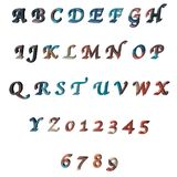 3D lettres multicolores/alphabet/nombres Photos libres de droits