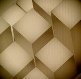 3d levels Cardboard Texture illustration design Royalty Free Stock Image