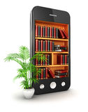 3d library smartphone Stock Photos