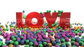 3d Liefdetekst vector illustratie