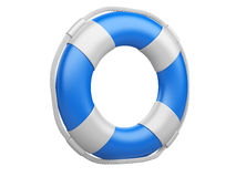 3d life buoy over white Stock Photos
