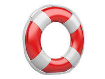 3d life buoy over white Royalty Free Stock Photos