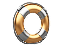 3d life buoy over white Royalty Free Stock Photo