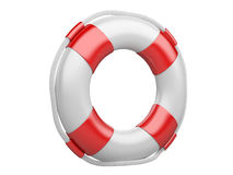 3d life buoy over white Stock Image