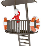 3d Lifeguard chair Stock Photography