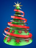 3d light green Christmas tree Stock Photos